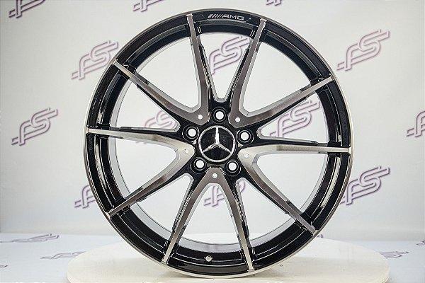 Jogo De Rodas Mercedes GT-S Preto Diamantado 5x112 - 18x8