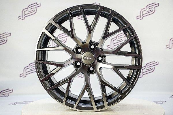 Jogo De Rodas Audi R8 V10 Plus Grafite Diamantado 5x112 - 18x8