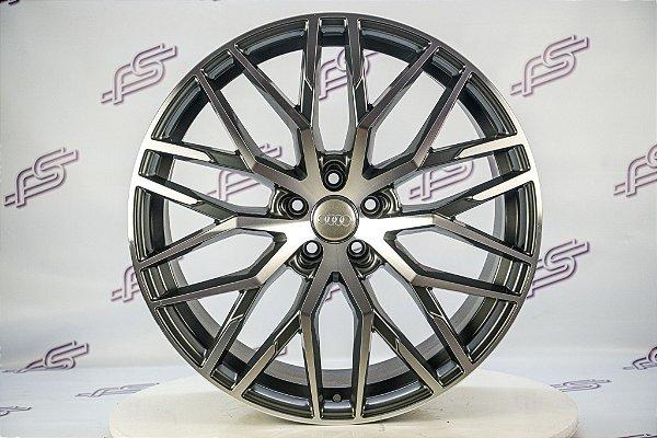 Jogo De Rodas Audi R8 V10 Plus Grafite Diamantado Brilhante 5x112 - 21x9,5