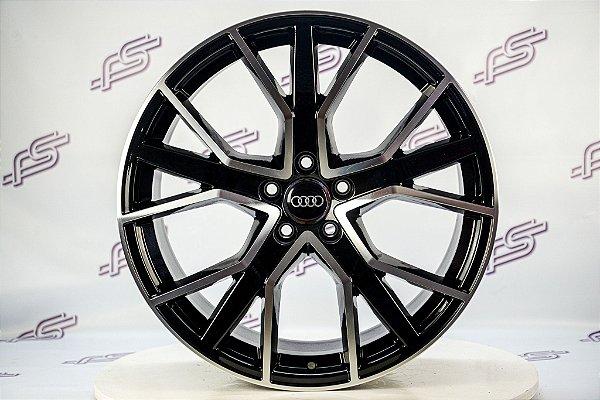 Jogo De Rodas Audi Rs Q7 2016 Preto Diamantado 5x112 - 20x9