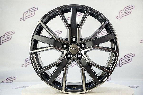 Jogo De Rodas Audi Rs Q7 Grafite Diamantado Brilhante 5x112 - 19x8,5