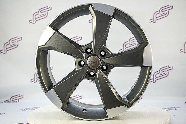 Jogo De Rodas Audi Rs3 Grafite Diamantado Fosco 5x112 - 19x8