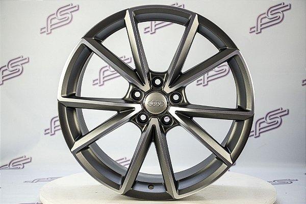 Jogo De Rodas Audi Rs4 Grafite Diamantado Fosco 5x112 - 19x8,5