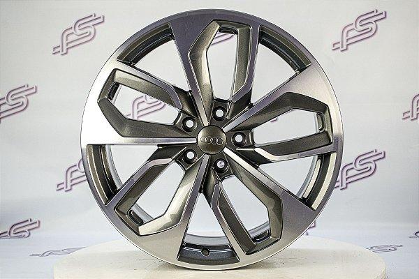 Jogo De Rodas Audi Rs4 Grafite Diamantado 5x112 - 19x8,5