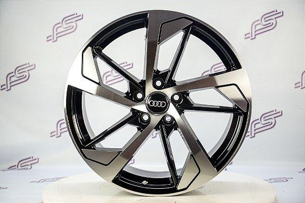 Jogo De Rodas Audi Rs5 Preto Diamantado 5x112 - 19x8,5