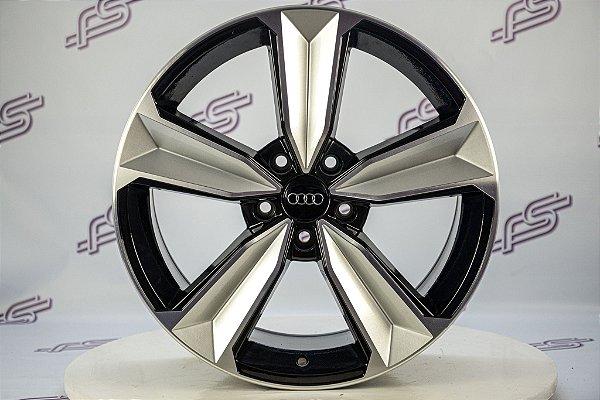 Jogo De Rodas Audi Rs5 2018 Preto Diamantado Brilhante 5x112 - 18x8