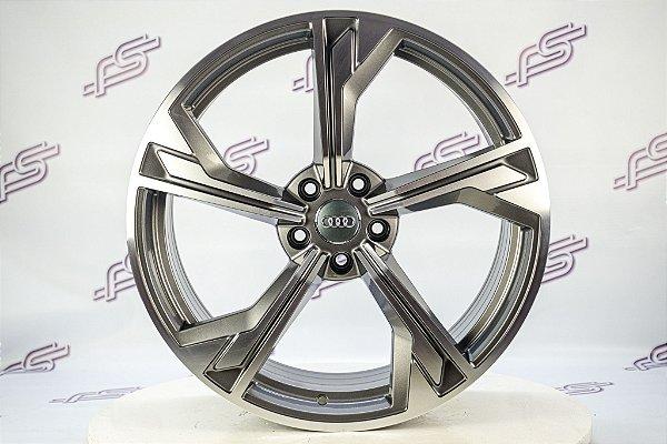 Jogo De Rodas Audi Rs5 2020 Grafite Diamantado 5x112 - 20x9