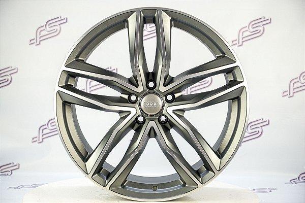 Jogo De Rodas Audi Rs6 2014 Grafite Diamantado Fosco 5x112 - 20x9