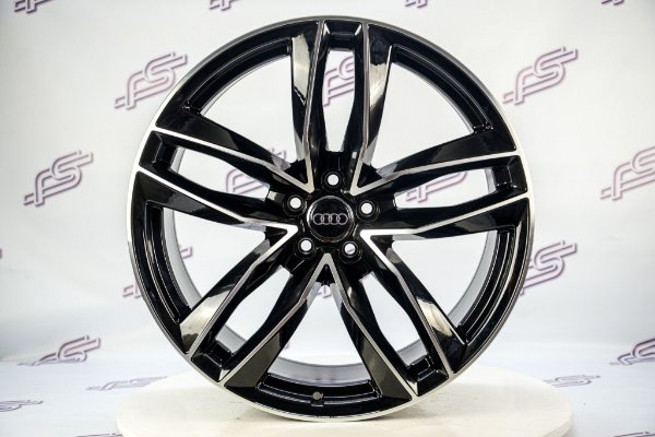 Jogo De Rodas Audi Rs6 2014 Preto Diamantado Brilhante 5x112 - 21x9,5