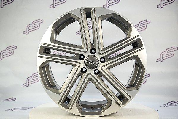 Jogo De Rodas Audi S7 Grafite Diamantado Fosco 5x112 - 20x8