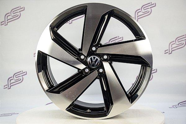 Jogo De Rodas VW Golf 2019 Preto Diamantado 5x112 - 19x8,5