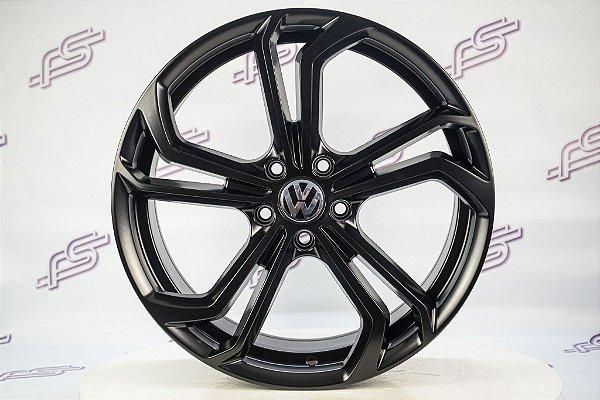 Jogo De Rodas VW Golf Gti TCR Preto Semi Brilho 5x112 - 19x8,5