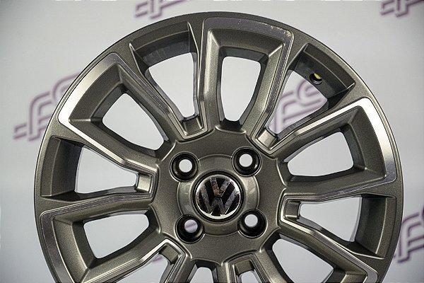 Jogo De Rodas VW Saveiro Cross Grafite Diamantado 4x100 - 15x6