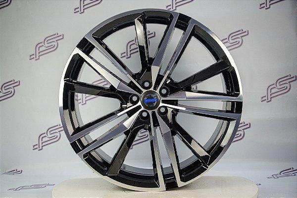 Jogo De Rodas Volvo XC 60 2019 Preto Diamantado 5x108 - 22x9