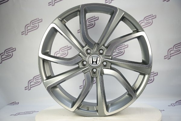 Jogo De Rodas Honda Civic Type-R Grafite Diamantado 5x114 - 22x8