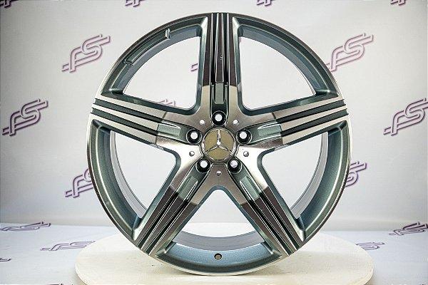 Jogo De Rodas Mercedes AMG C-63 Grafite Diamantada 5x112 -20x8,5