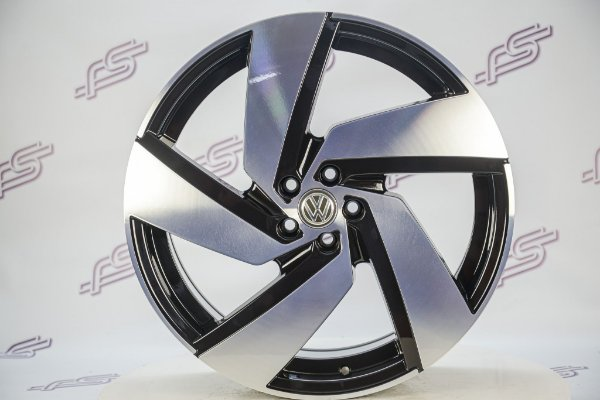 Jogo De Rodas VW Polo Gti Passione Preto Diamantado 5x100 - 20x7,5