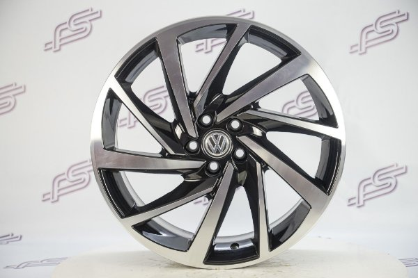 Jogo De Rodas VW Polo/Virtus Preto Diamantado Brilhante 5x100 - 17x7