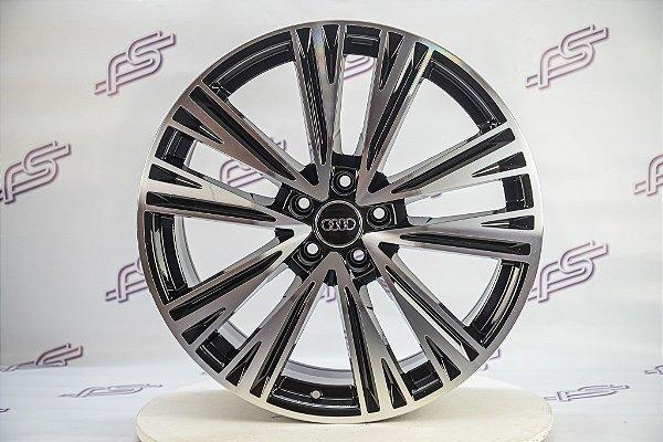 Jogo De Rodas Audi SQ5 Preto Diamantado 5x112 - 20x8,5