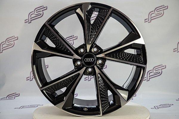 Jogo De Rodas Audi Rs7 2020 Preto Diamantado 5x112 - 20x9