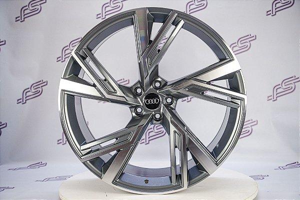 Jogo De Rodas Audi Rs6 2020 Grafite Diamantado 5x112 - 22x9,5