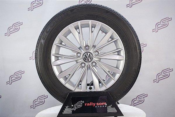 """Jogo De Rodas VW Jetta 2019 Original Prata 5x112 -16"""" (Com Pneus)"""