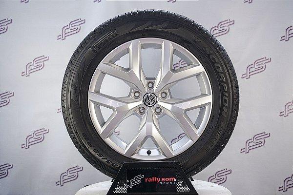 Jogo De Rodas VW Amarok V6 2017 Original Prata 5x120 - 19x8 (Com Pneus)
