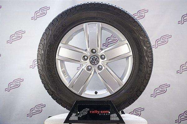 Jogo De Rodas VW Amarok 2017 Original Prata 5x120 - 18x7,5 (Com Pneus)