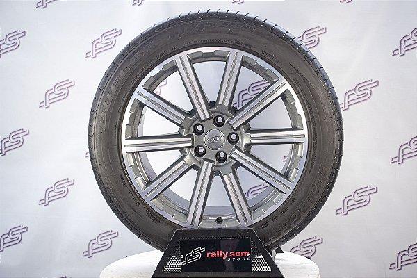 Jogo De Rodas Audi Q7 / SQ7 Original Grafite Diamantada 5x112 - 20x9 (Com Pneus)