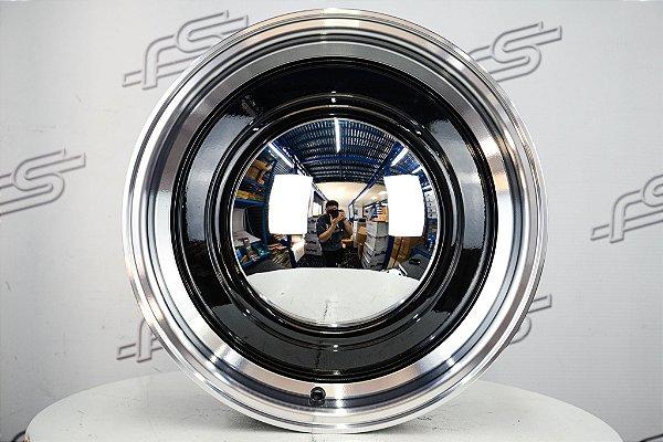 Roda Smoothie Preta Diamantada Aro 15 / Tala 6 / Furação 5x139,7