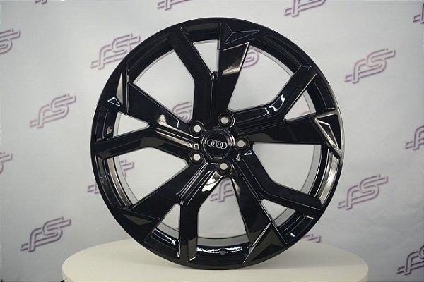 Jogo De Rodas Audi Rs Q8 2020 Preto Brilhante 5x112 - 20x8,5