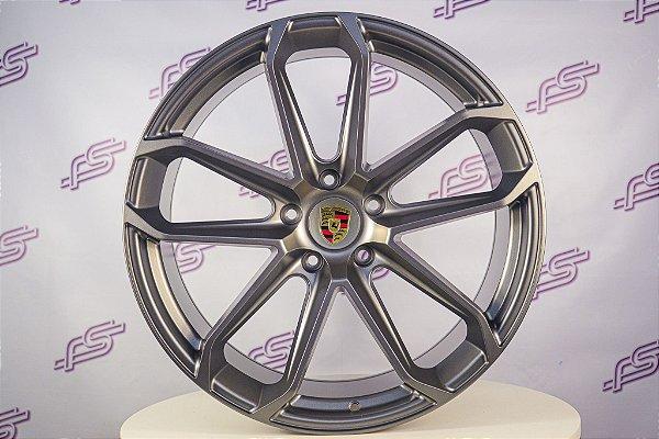 Jogo De Rodas Porsche Cayenne Gts Grafite 5x130 - 22x10 e 11,5
