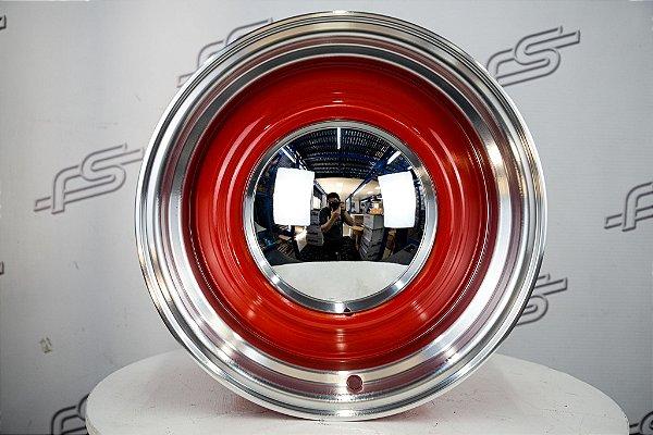 Roda Smoothie Vermelha borda Diamantada aro 15 / Tala 8 / Furação 5X114,3/139,7