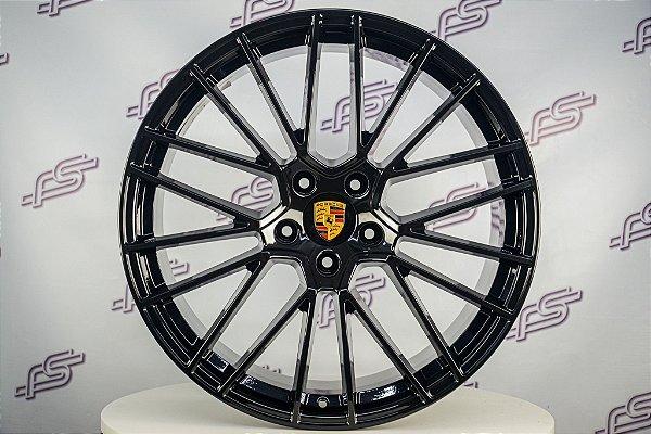 Jogo De Rodas Porsche Cayenne Turbo Preto Diamantado 5x130 - 21x9,5 e 21x11