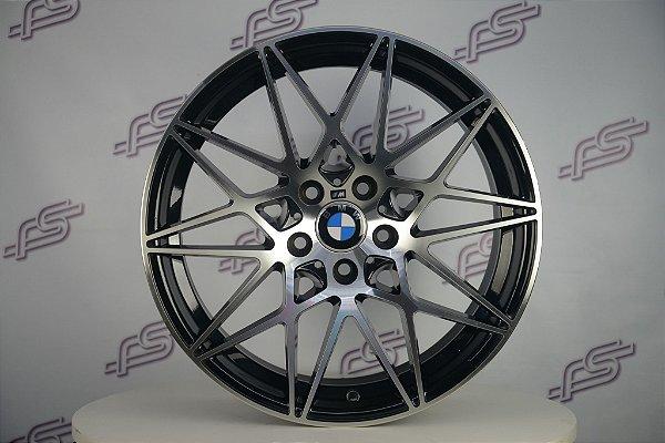 Jogo De Rodas Bmw Bbs M-4 Coupe Preto Diamantado 5x120 - 19x8