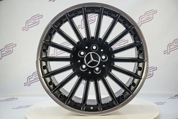 Jogo De Rodas Mercedes SLK Preto 5x112 - 19x8,5 e 19x9,5