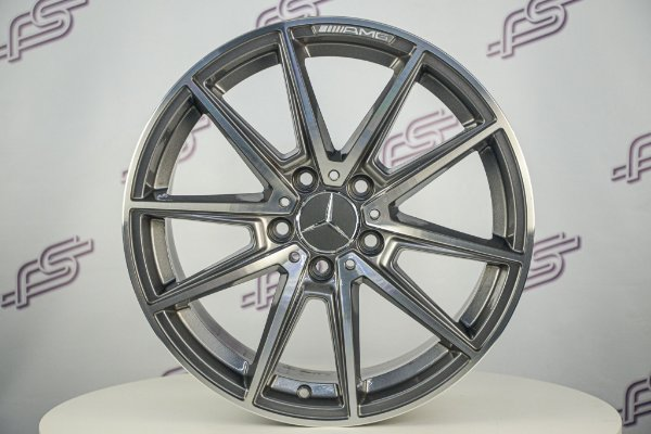Jogo De Rodas Mercedes SL-63 Grafite Diamanta 5x112 - 17x8