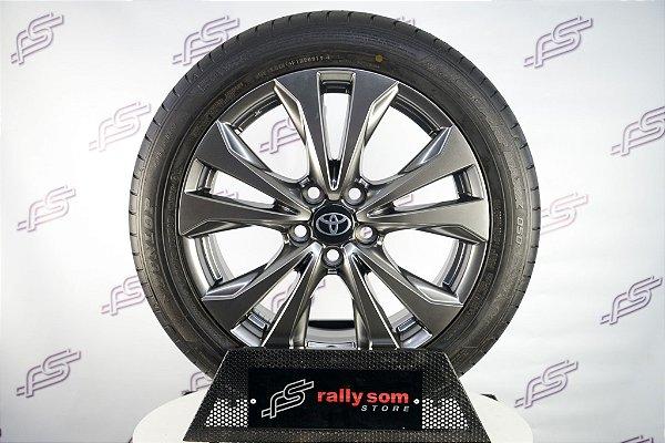 Jogo de Rodas Lexus UX 250 Original Cromo Look Prata 5x114,3 - 18x7 (Com Pneus)