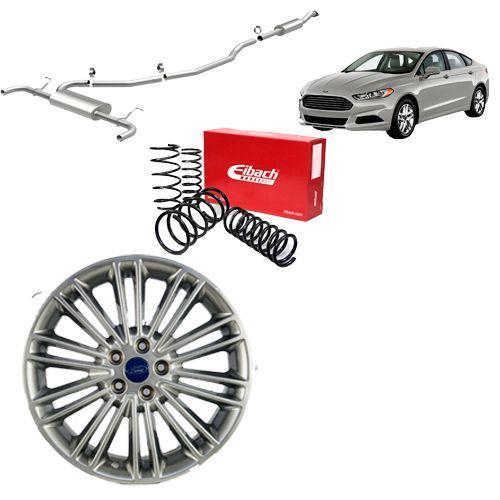 Combo Ford Fusion (Roda + Mola Eibach + Escapamento Magnaflow)