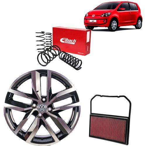 Combo VW UP (Roda + Mola Eibach + Filtro K&N VW)