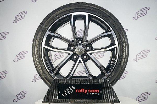 Jogo De Rodas Audi S5 Coupe Preto Diamantado 5x112 - 18x8 (Com Pneus)
