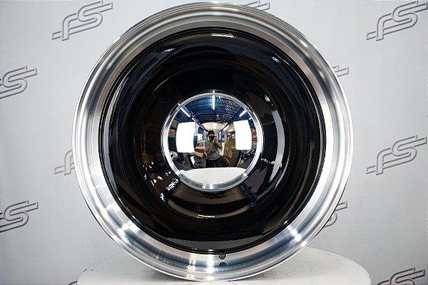 Roda Smoothie Preta Borda Diamantada Aro 20x8,5 / Furação 6x139 off-set 0