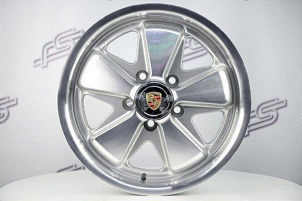 Roda 911 Fuchs Prata Diamantada Kombi Aro 15 Tala 5,5 / 5 Furos (5x112)
