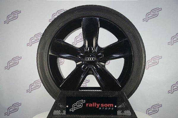 Jogo De Rodas Audi A3 Original: Preto 5x112 - 17x7,5 (Com Pneus)