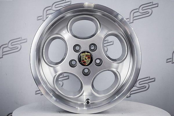 Jogo de Rodas Porsche Lemans Prata Aro 15 / 5 Furos (5x100)