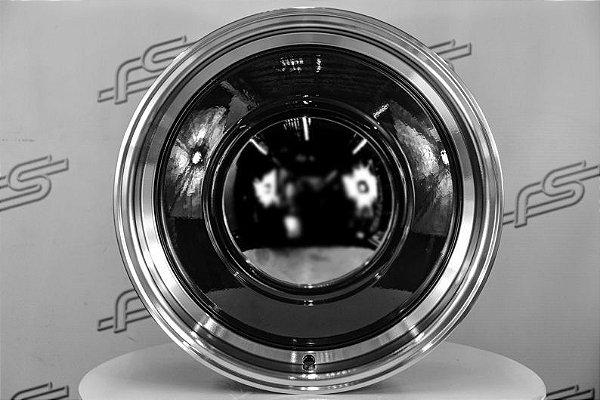 Roda Smoothie Preta borda Diamantada aro 15 / Tala 7 / Furação 5x114,3/139,7