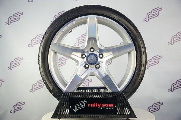 Jogo De Rodas Mercedes AMG Sl Krasa Prata Original 5x112 - 19x8,5 (Com Pneus)