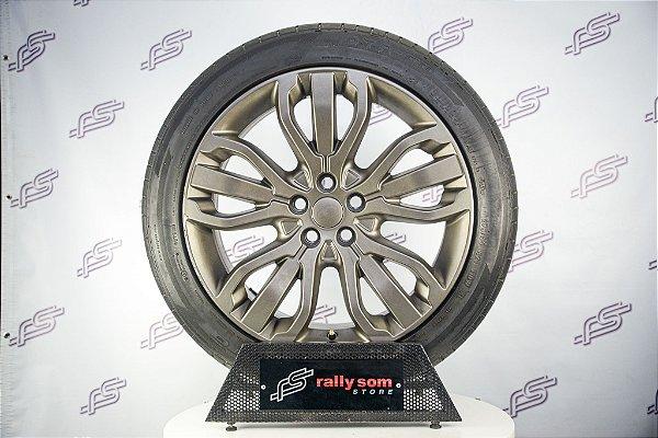 """Jogo De Rodas Range Rover Original Bronze Fosco 5x120 - 21"""" (Com Pneus)"""