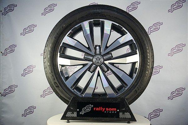 Jogo De Rodas VW Amarok X-Treme V6 Original Grafite Diamantado 5x120 - 20x8 (Com Pneus)
