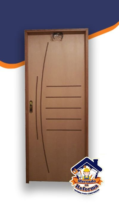 Porta Frisada Curupixá semi oca uso interno 210cm x 80cm